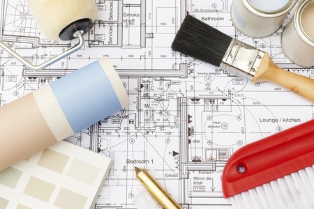 decorating: Decorating Components Arranged On House Plans