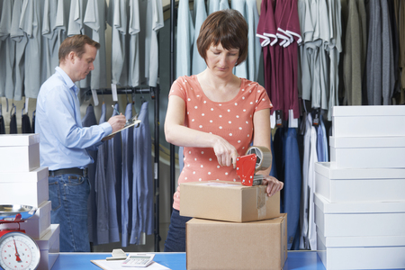 Online Business: Couple Running Online Clothing Store