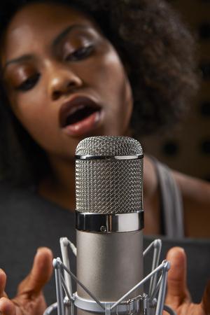 vocalist: Female Vocalist In Recording Studio