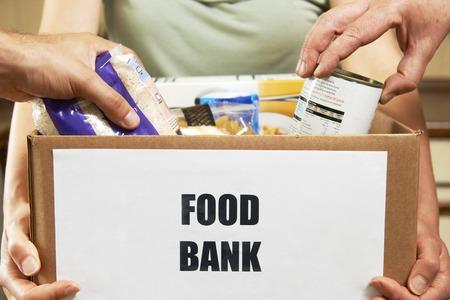 Faire des dons à la Banque alimentaire Banque d'images