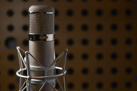 estudio de grabacion: Cierre De Micr�fono en estudio de grabaci�n