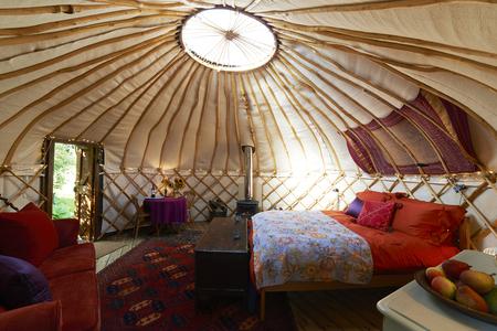 Interior Of Empty Holiday Yurt