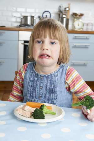 fussy: Fussy Child Not Eating Healthy Meal
