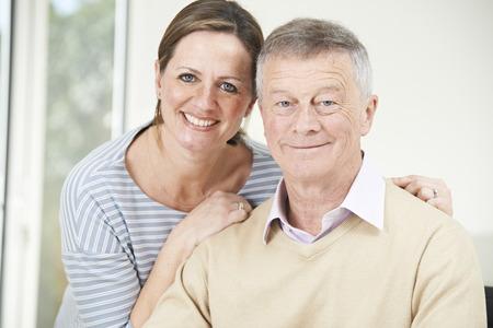senior adult man: Portrait Of Senior Man With Adult Daughter