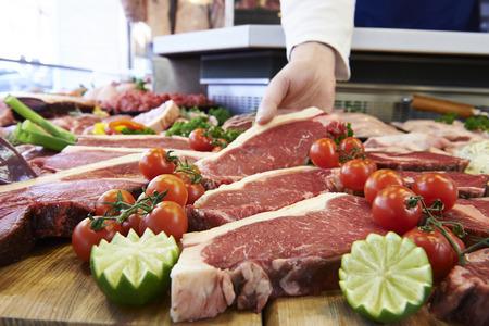 Butcher Affichage surlonge à la clientèle Steak En vitrine réfrigérée
