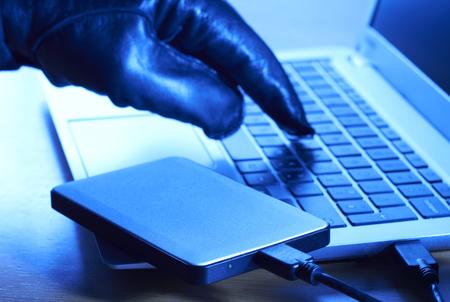 disco duro: Ciber-Delincuente datos descargarlos en disco duro portátil
