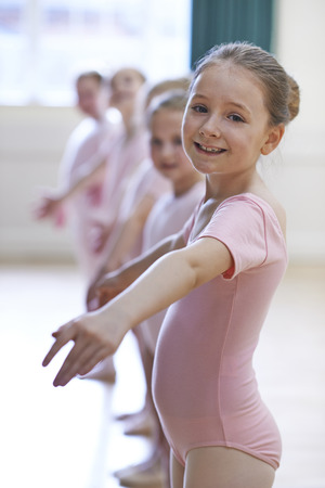 10 years old: Group Of Young Girls In Ballet Dancing Class