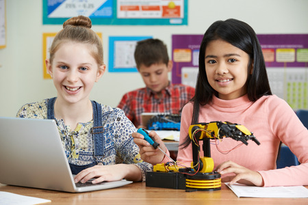 Pupils In Science Lesson Studying Robotics Stock Photo - 70616014