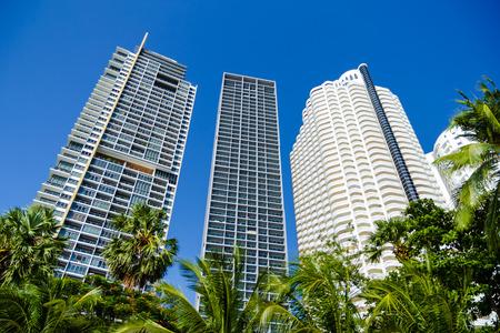 amat: Skyscrapers at Wong Amat Pattaya Editorial