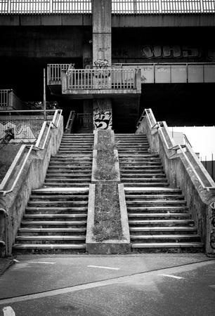 Under bridge stairs in Bratislava (Slovakia) photo