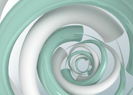 gradually: 3d abstract background, bent smooth shapes gradually changing size and position