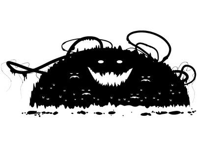 looming: Vector grunge monsters design element