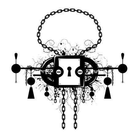 constricted: Grunge Lock Emblem