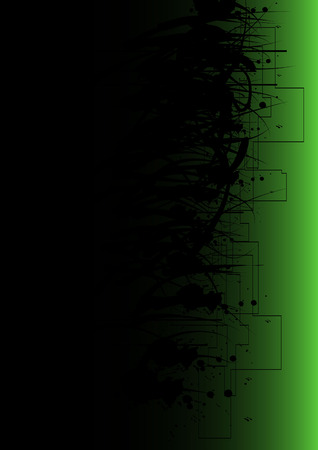 disappear: Dark Green Grunge Background Illustration