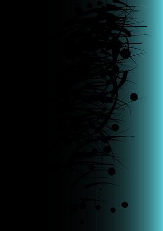 disappear: Dark Blue Grunge Background
