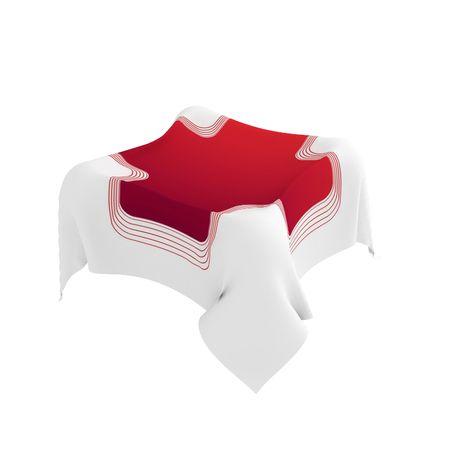 rood kruis: 3d doek met een rood kruis ontwerp