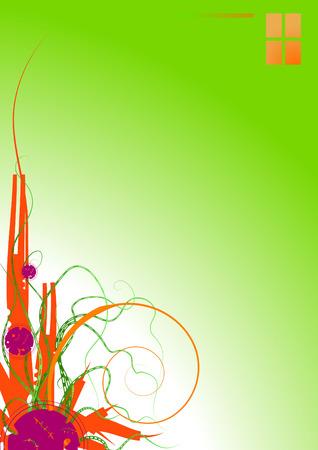 alignment: Resumen de dise�o de plantas de vectores de fondo, alineaci�n vertical