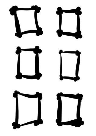 A set of 6 small vector frame design elements Vector