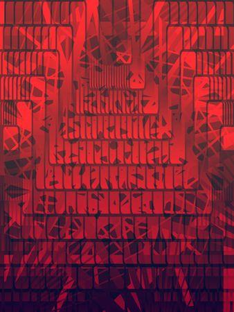 an overlay: Red resumen forma de superposici�n de fondo, vertical, vector