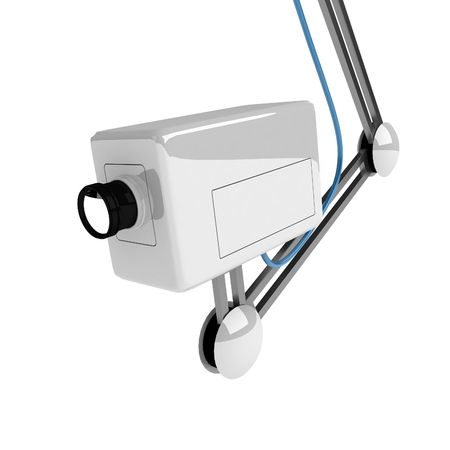 White 3d surveilance camera, over white, cutout Stock Photo - 2913269