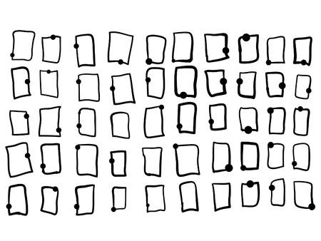 50 Small Frames Vector