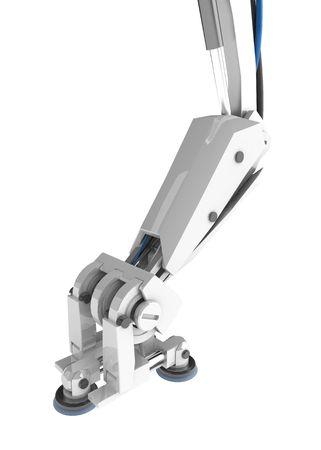 Bent 3d robotic limb, over white, isolated Stock Photo - 3019391