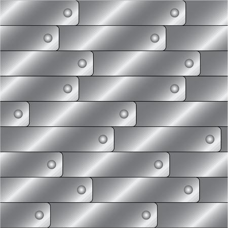 Rivet metal seamless tile pattern, vector Stock Vector - 3019398