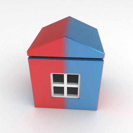 Split House, over white surface photo