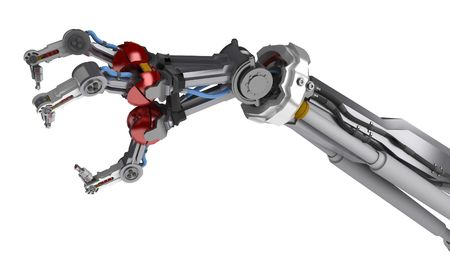 3d robotic arm, over white, isolated Stock Photo - 3238173