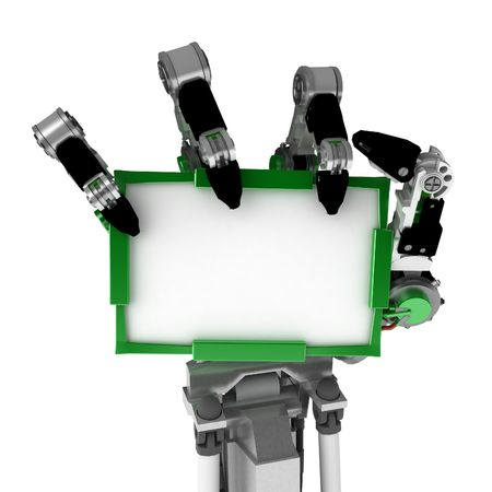 3d robotic hand, over white, isolated Stock Photo - 3238170