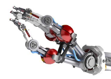 mano robotica: 3d brazo rob�tico la celebraci�n de un tornillo  Foto de archivo