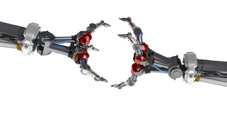 3d robotic hand, over white, isolated Stock Photo - 3264463