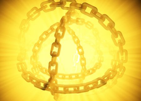 radiate: Golden Light 3d Chains, horizontal