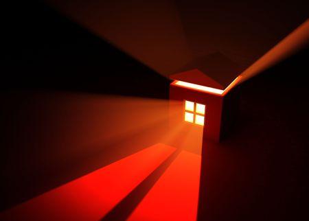 emanate: Red Light  Window, horizontal