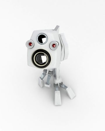 Small 3d Walker Robot, isolated Stock Photo - 3466728