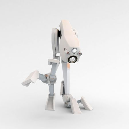 Small 3d Walker Robot, isolated Stock Photo - 3466663