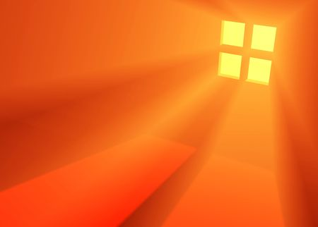 emanate: Red 3d Window light background, horizontal