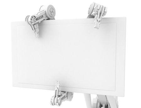 mano robotica: 3d brazo rob�tico, m�s de blanco