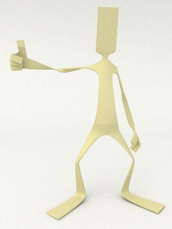 Flat 3d cartoon figure, isolated Stock Photo - 3729056