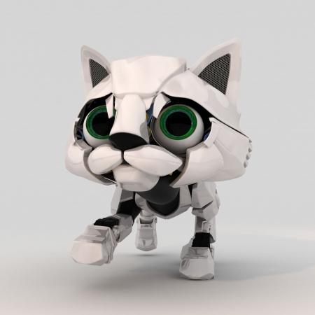Small Robotic Kitten Model, 3d photo