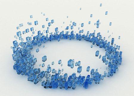 evaporarse: L�quido de color 3D cubo anillo, aisladas