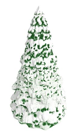 Christmas Tree, 3d shape, isolated photo