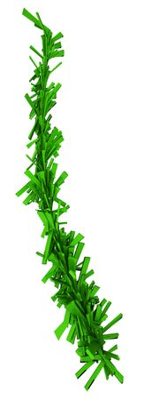 Green 3d Fragment Christmas Tree Twig photo