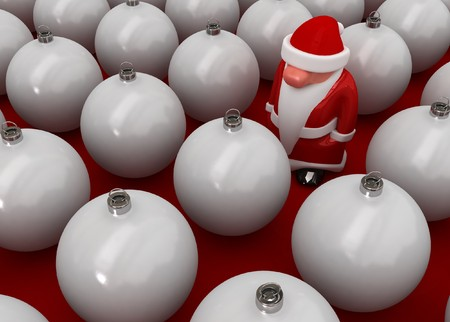 distinguish: Small 3d Santa Claus figure