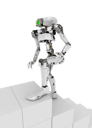 Slim 3d robotic figure, isolated Stock Photo - 4222941