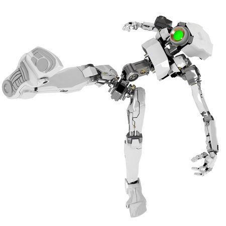 Slim 3d robotic figure, isolated Stock Photo - 4618979