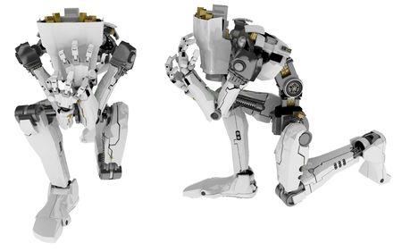 Slim 3d robotic figure, isolated Stock Photo - 4618981