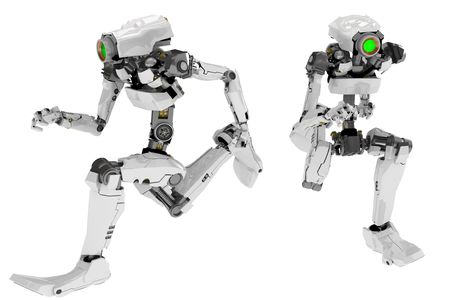 Slim 3d robotic figure, isolated Stock Photo - 4618982