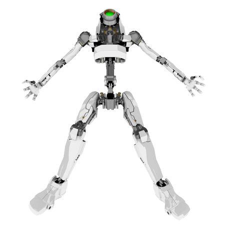 Slim 3d robotic figure, isolated Stock Photo - 4657698