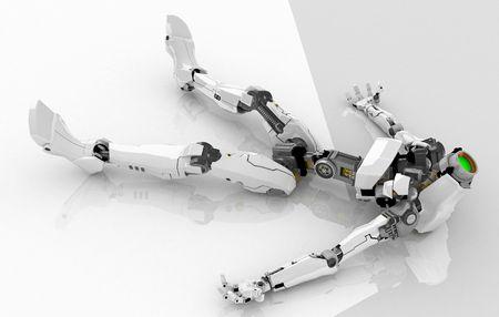 Slim 3d robotic figure, isolated Stock Photo - 4657692